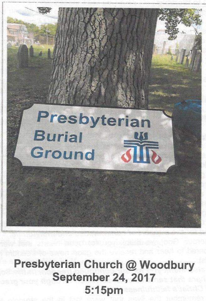 Presbyterian Burial Ground: September 24, 2017