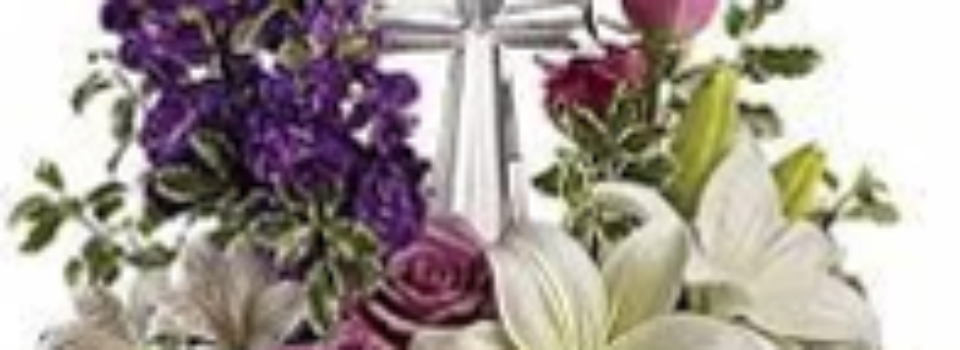 Flowers and Cross