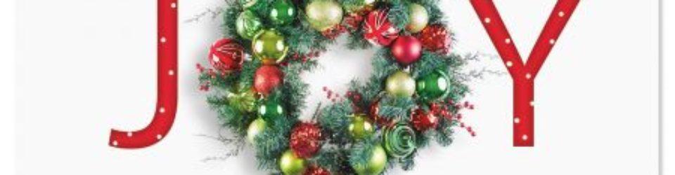 Joy/Christmas Wreath