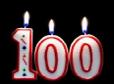 100th Birthday candles