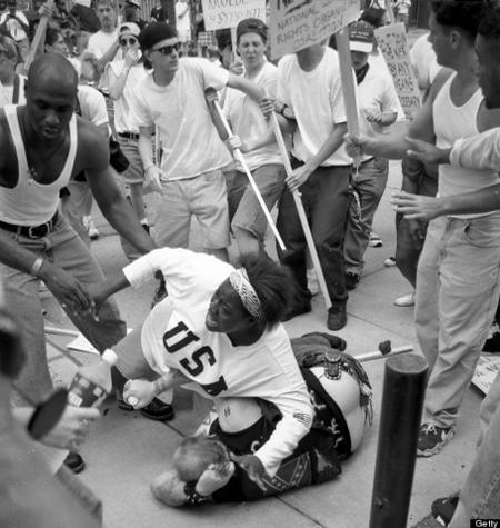Keshia Thomas protecting Klan member