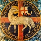Lamb with St.George cross