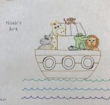 Hand drawing of Noah's Ark